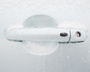 Autogriff gefroren